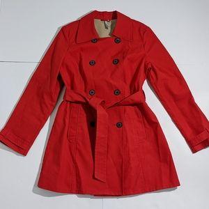 Red Trench Coat Medium